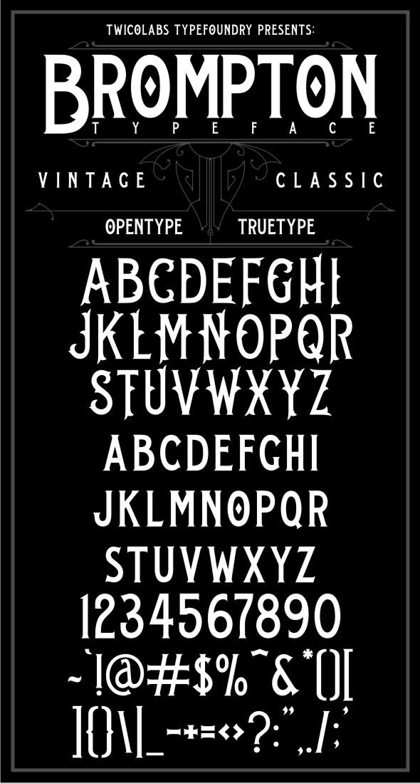 Brompton Typeface